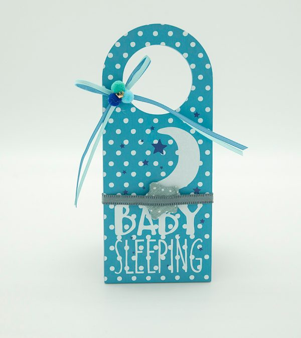 BABY Door Hanger Blue1