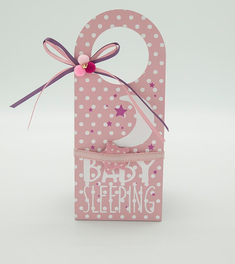 BABY Door Hanger Pink1